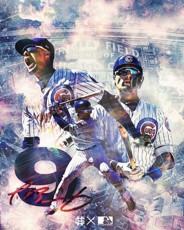 Javier Baez Chicago Cubs 9 In 2020 Mlb Wallpaper Baseball Wallpaper Cubs Baseball