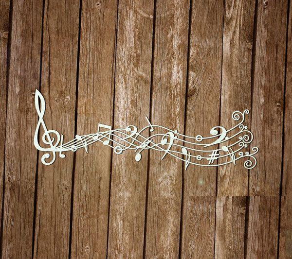 "Cardboard for scrapbooking ""Music"" by SiberianDIYcraftsArt on Etsy"