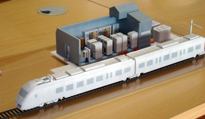 3d printed model of train station