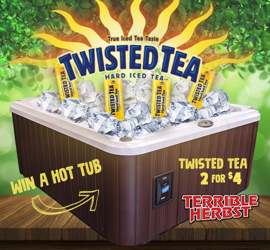 Twisted Tea Hot Tub Giveaway  Please Enter Here:  https://wn.nr/2VUyBZ