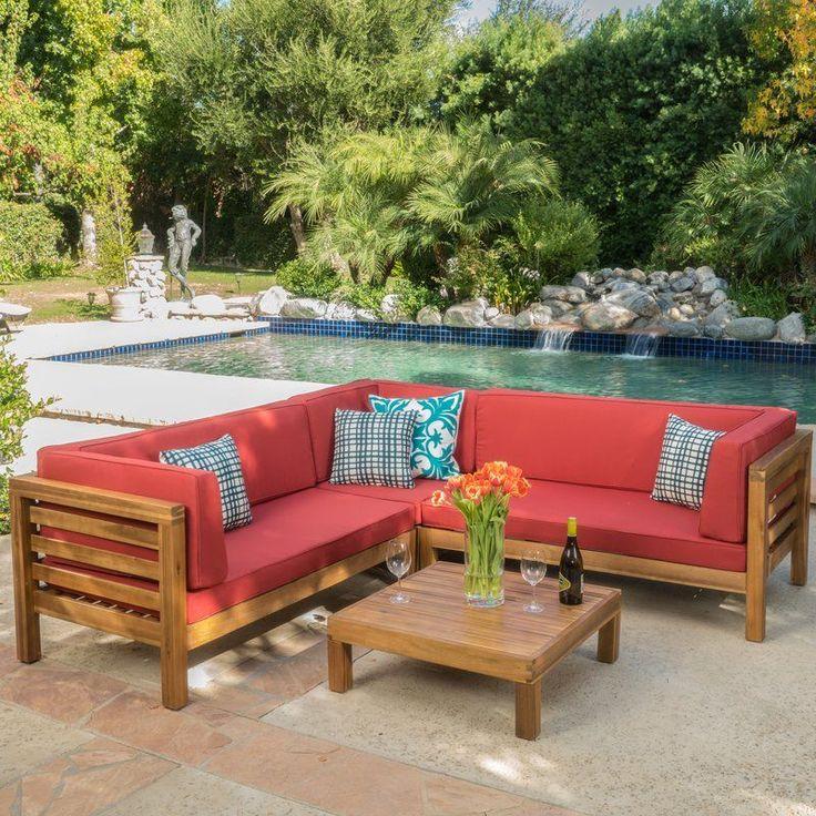Concrete Countertop Birdsboro 4 Piece Sofa Set with