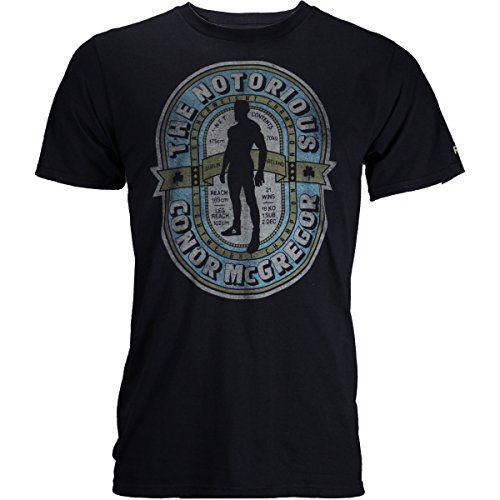 Reebok Conor McGregor Notorious Label Shirt - Black - Large
