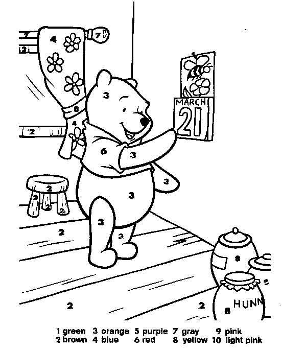 58 best Winnie the Pooh Activities images on Pinterest ...Eeyore Coloring Pages By Number