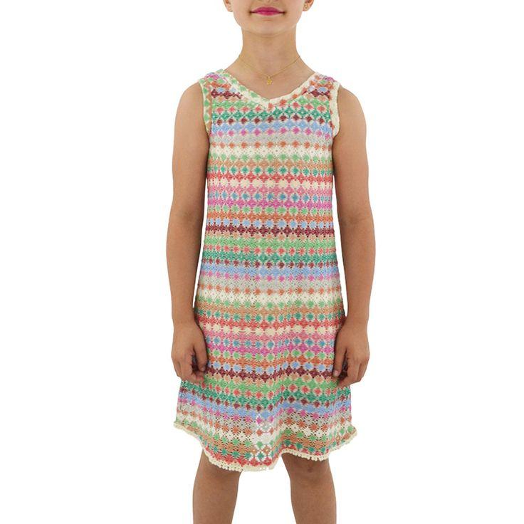 Weekend Vibes Vintage Crochet Dress in Multi