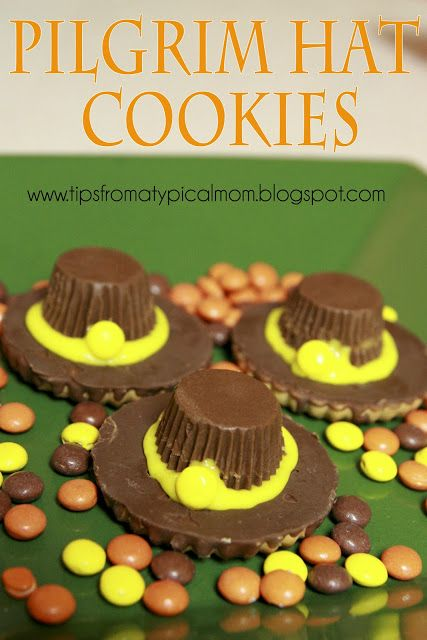 {Pilgrim Hat Cookies} Last Minute Thanksgiving Treat! - Tips from a Typical Mom