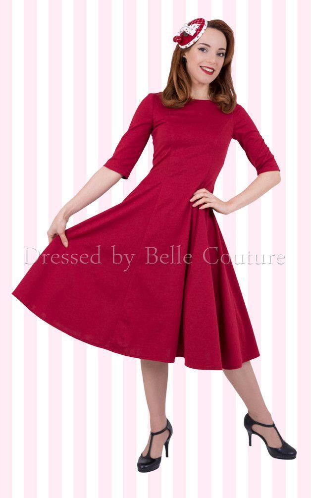 Entdecke lässige und festliche Kleider: 50er Jahre Jerseykleid Luisa Herbst / Winter made by Atelier Belle Couture 50er Jahre Petticoatkleider Rockabilly Kleider via DaWanda.com