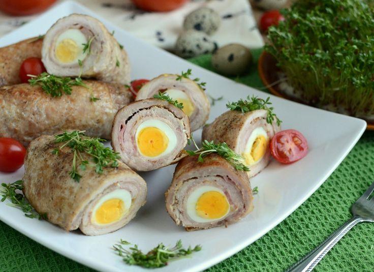 Schabowe roladki z jajkiem