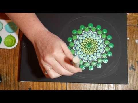 Iniciando - Mandala com Pontinhos e tinta acrílica - YouTube