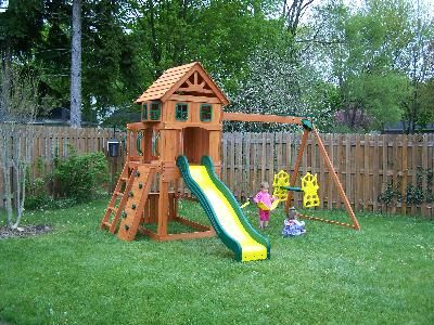 backyard discovery atlantis cedar wooden swing set walmart plays