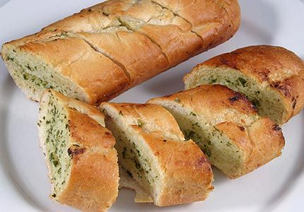 Garlic Bread/Ina Garten/olive oil/I couldn't find the pic but this is close/It has a Video though/ http://www.foodnetwork.com/recipes/ina-garten/garlic-bread-recipe/index.html