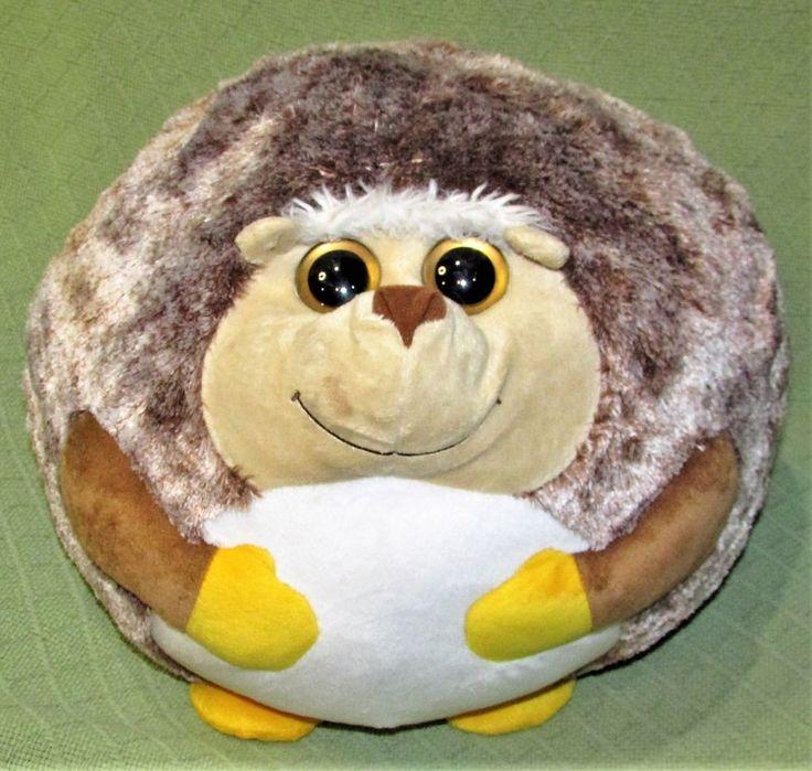 "12"" Ty Beanie Ballz PRICKLES the HEDGEHOG Larg3 Plush Stuffed Animal 2011 No Tag #Ty"