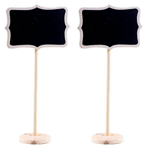 C-Princessミニ黒板 10個セット メッセージ黒板 ブラックボード メモ用 ノート用 木製 インテリア 装飾 食事会 パーティー用