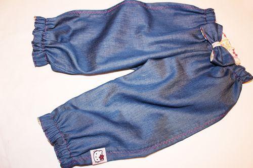 Летние джинсы для малышки МК