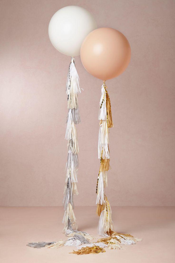 Party Decor: Balloon Tassel. Love it!