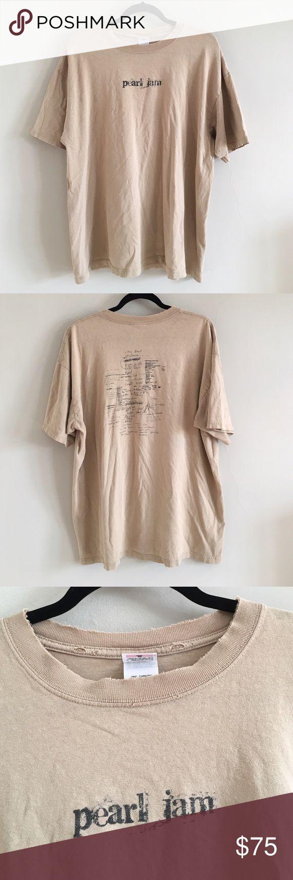 Vintage RARE Pearl Jam Tour T-shirt Vintage 90s Pearl Jam concert shirt Vintage Tops Tees - Short Sleeve