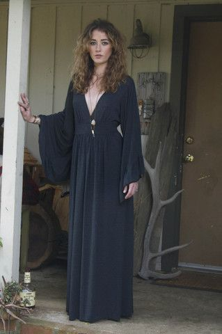 Charcoal Bell Sleeve Maxi
