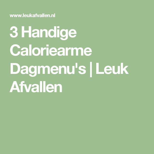 3 Handige Caloriearme Dagmenu's | Leuk Afvallen