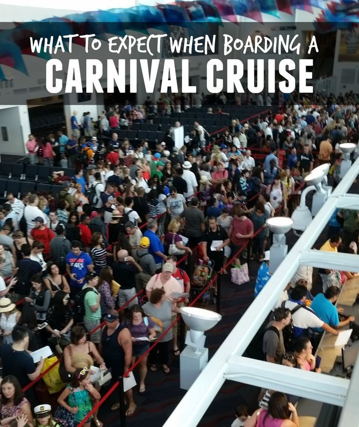 What to expect when boarding a Carnival Cruise #cruising carnival