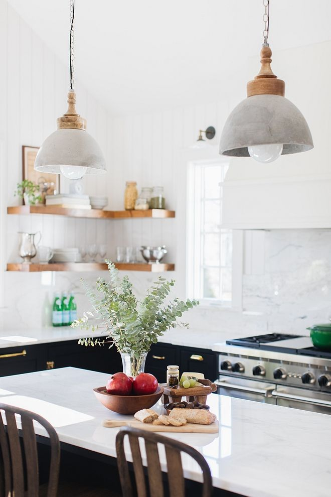 Dane Concrete Dome Pendant Light With Wood Ca At Houzz