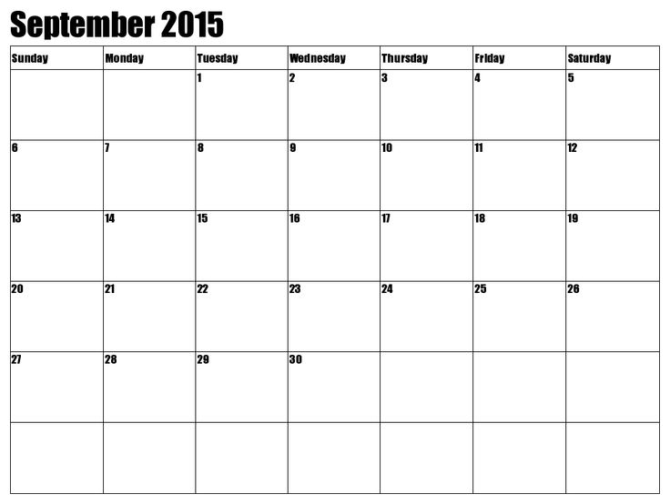 The 25+ best October month calendar 2016 ideas on Pinterest - printable monthly calendar sample