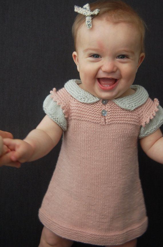 Claudine Layered Dress and Top PDF knitting pattern by frogginette, $5.00 to 24 months. Darling dress