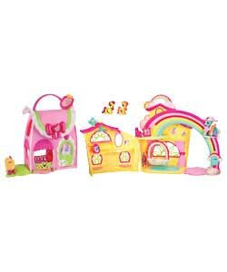 My Little Pony Mini Playset  Two playsets to collect. The rainbow house playset has two fun-filled levels for lots of pony-perfec  http://www.comparestoreprices.co.uk/my-little-pony/my-little-pony-mini-playset.asp