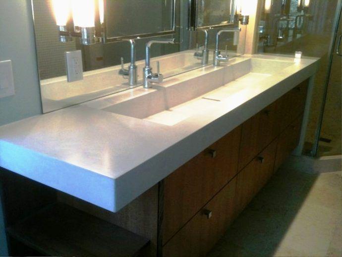 Bathroom Trough Sink Undermount Luxury Bathroom Si…