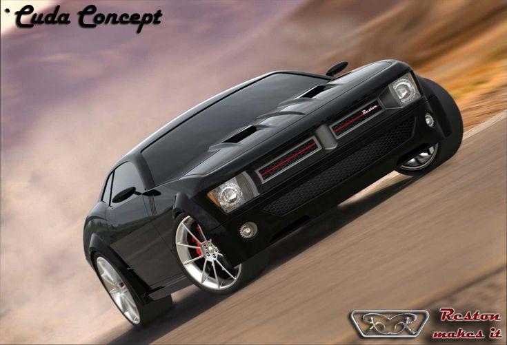 Cuda Concept rendering - Car Body Design