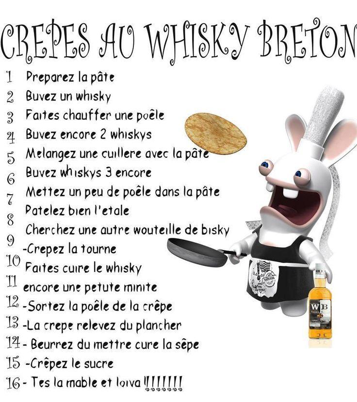 Recette de la cr pe au whisky la bretonne pinterest whisky - Recette de cuisine drole ...