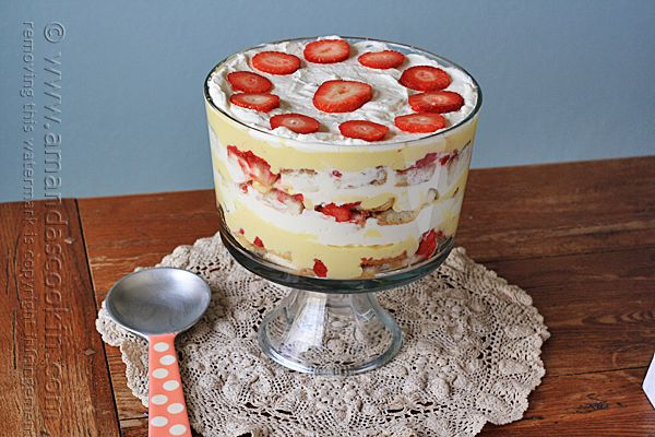 If I had to choose one dessert as the most nostalgic for me, that would be a traditional English Trifle. I love the flavor combinations!