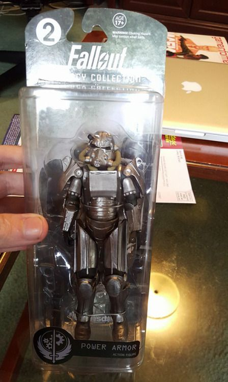 I think these are better than those Vault Boy vinyl figurines.  More on Power Armor  fallout fallout figurines fallout bos brotherhood of steel bos power armor