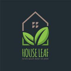 House Leaf logo design template, easy to customize. House Leaf