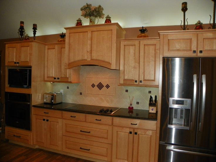 27 best backsplash images on pinterest kitchen for Birdseye maple kitchen cabinets