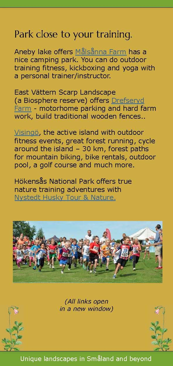 Go Fitness Trip- reach your training destination on your motor home holiday