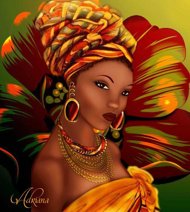 Поздравление от африканской женщины