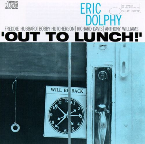 Eric Dolphy / Out To Lunch (1964) Out To Lunch stands as Eric Dolphy's magnum opus, an absolute pinnacle of avant-garde jazz in any form or era.  The whole ensemble - trumpeter Freddie Hubbard, vibist Bobby Hutcherson, bassist Richard Davis, and drummer Tony Williams - take full advantage of the freedom Dolphy offers with his odd time signatures, wide-interval leaps, and flirtations with atonality. Monsieur EZ~BEAT! rates 10 of 10.