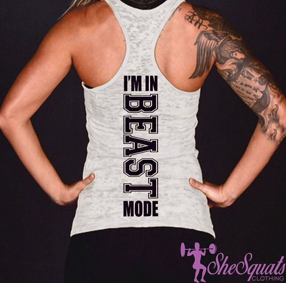 I'M In Beast Mode Tank Top. ladies gym tank by SheSquatsClothing