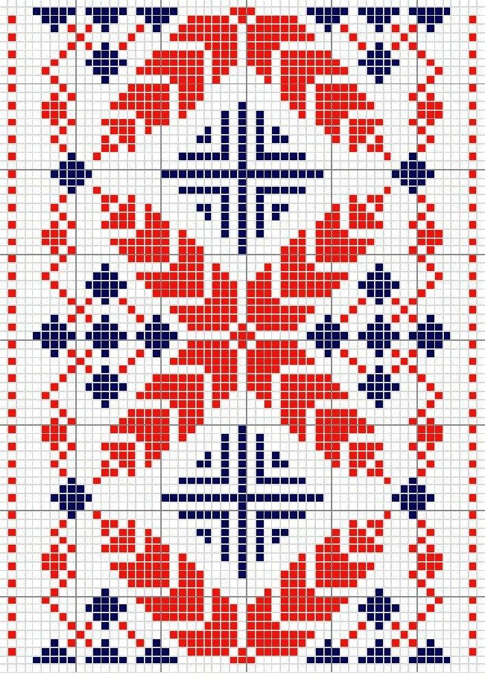 Old Russian cross stitch pattern