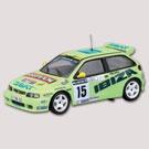 SEAT IBIZA KIT CAR - J. Puras - C. Del Barrio - 1996     Tricampeão. Em 1996 a marca espanhola Seat disputou pela primeira vez de forma completa o campeonato de «2 litros» da FIA. Embora nesse ano a marca tivesse ganho o primeiro dos três títulos consecutivos que conquistou na referida modalidade (1996, 1997 e 1998), a dupla Puras-do Barrio começou mal e teve que desistir no Rallye Monte-Carlo.