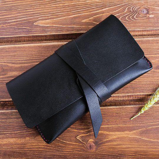 Клатч кожаный 'Buk'  / Черный 5000