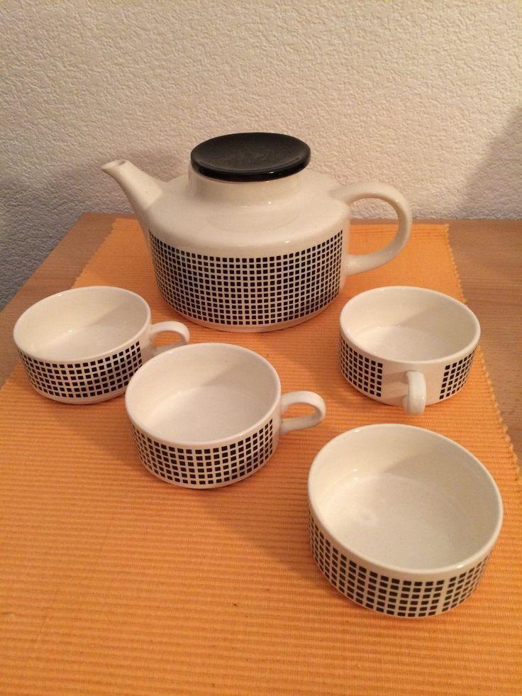 """VEB Steingutwerk Elsterwerda, Teeservice """"Lilo"""", 1964, East German Tableware Design, DDR, GDR"""