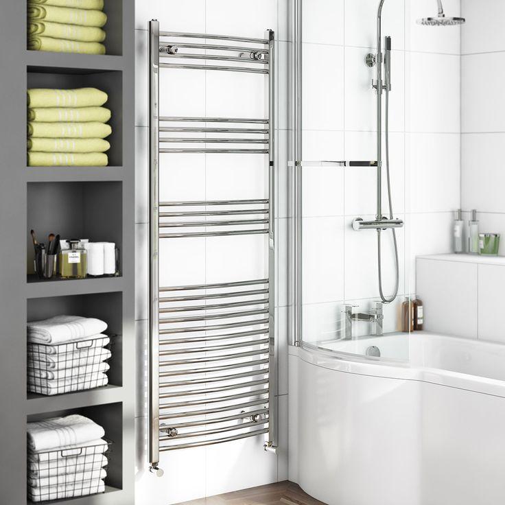 Curved Heated Towel Rail 1650 x 600