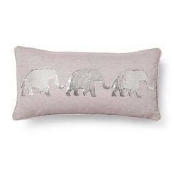 Elephant Throw Pillow - Gray (Square) - Mudhut™