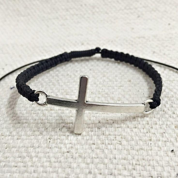 Pulseira Masculina Trançado Macrame Artesanal Crucifixo Cruz mens bracelets fashion cocar brasil