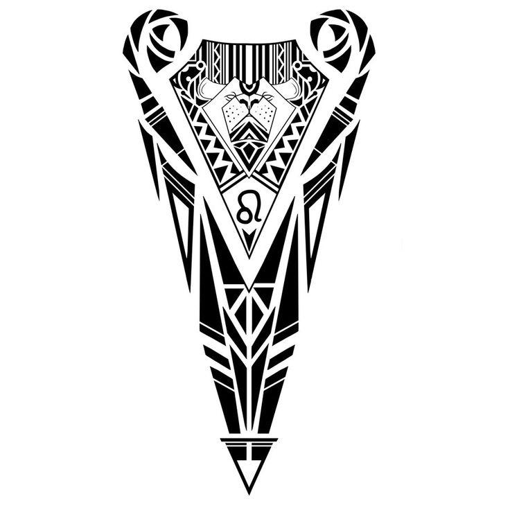 Maori Tattoo Designs Wallpaper: Leo Zodiac Sign Tribal Tattoo Design By Elenoosh