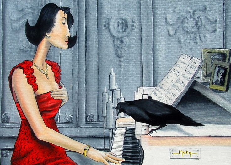 """""""Madeline & piano"""", Oil/Canvas"""