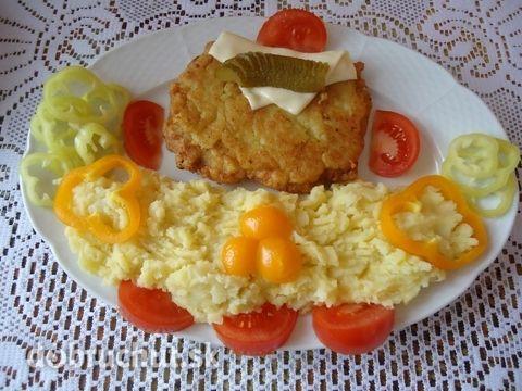 Černohorský rezeň so syrom