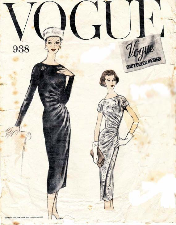 Vintage sewing pattern Vogue Couturier design 938