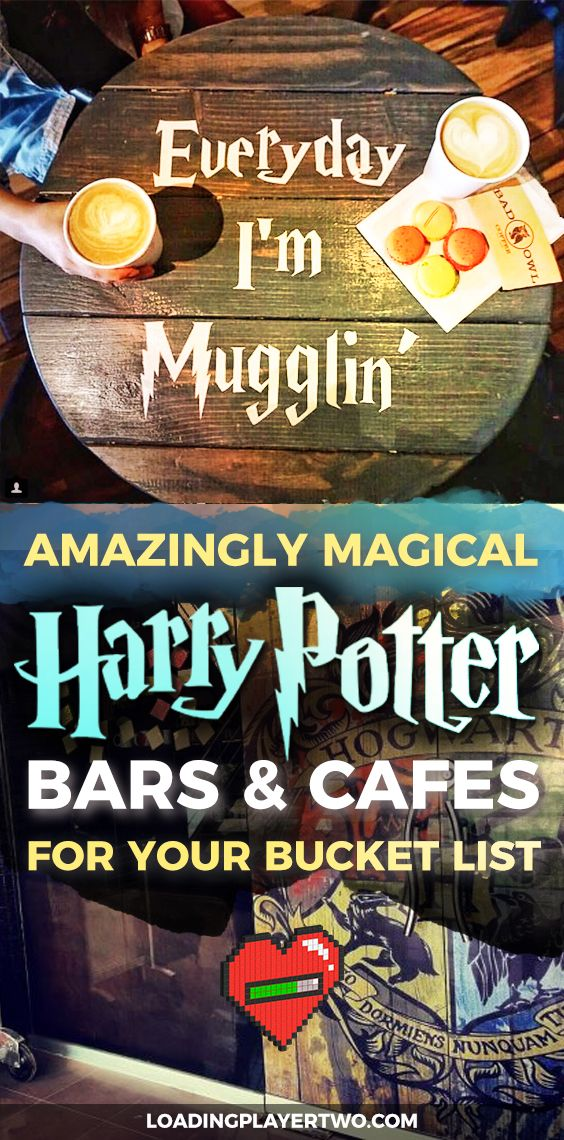 BEST LIST EVER featuring Harry Potter themed bars and cafes from around the world. A must-pin for any Harry Potter fan interested in travelling the world!