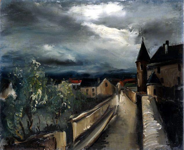 Landscape, Maurice de Vlaminck. Maurice de Vlaminck. French Fauvist Painter (1876 - 1958)